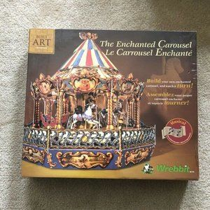 BUILT ART Musical ENCHANTED CAROUSEL Kit